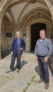OB-Kandidatin Tatjana Schneider und Florian Voigts, der Vorsitzender der PIRATEN Braunschweig