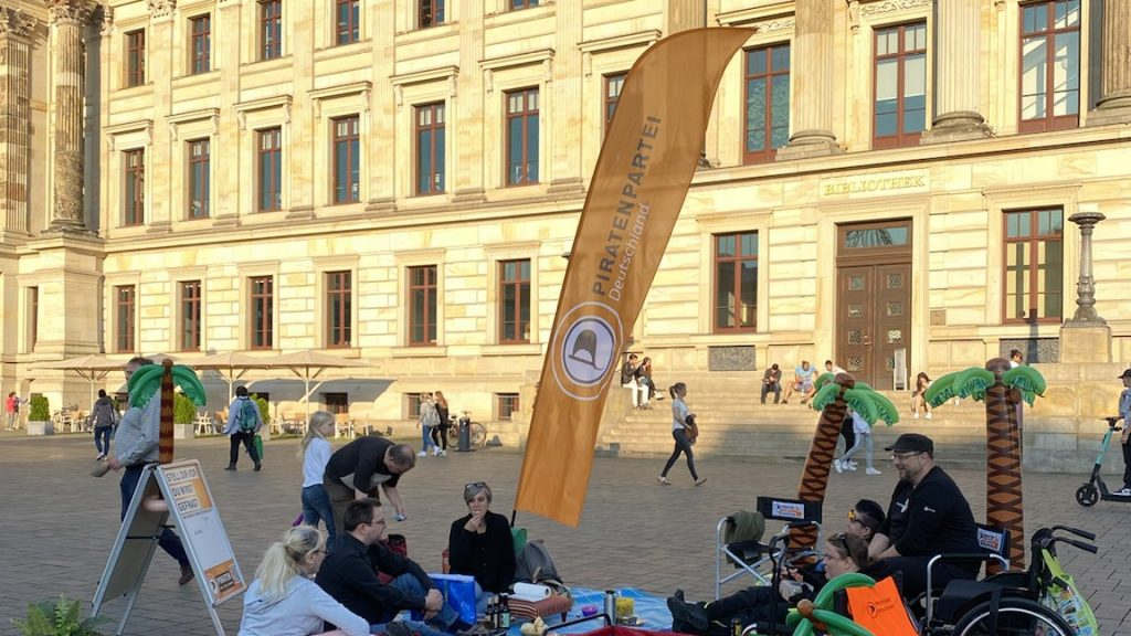 Picknick vor dem Schloss